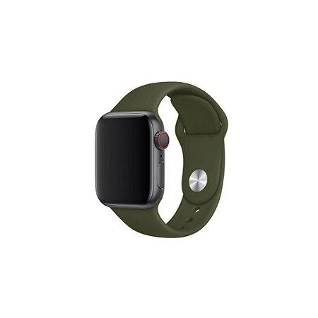 Pulseira Verde Cacto de Silicone para Apple Watch - 40mm