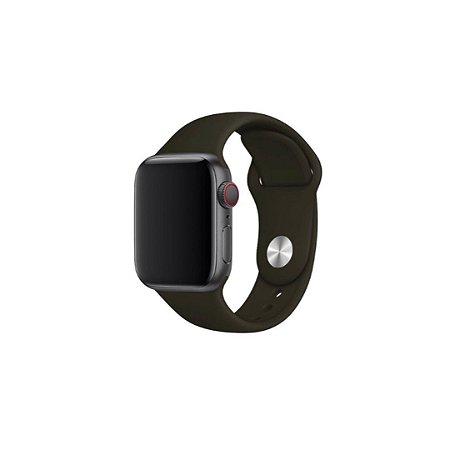 Pulseira Preta de Silicone para Apple Watch - 38mm