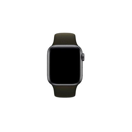 Pulseira Preta de Silicone para Apple Watch - 44mm