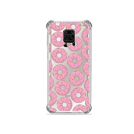 Capinha (Transparente) para Redmi Note 9 Pro - Donuts