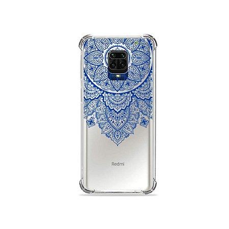 Capinha (Transparente) para Redmi Note 9 Pro - Mandala Azul