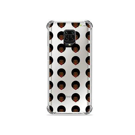 Capinha (Transparente) para Redmi Note 9 Pro - Black Girl