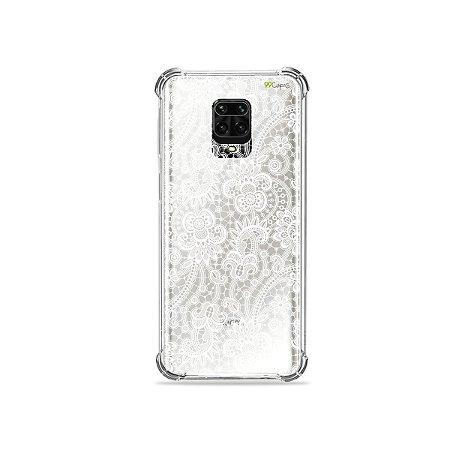 Capinha (Transparente) para Redmi Note 9S - Rendada