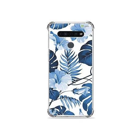 Capinha para LG K41s - Flowers in Blue