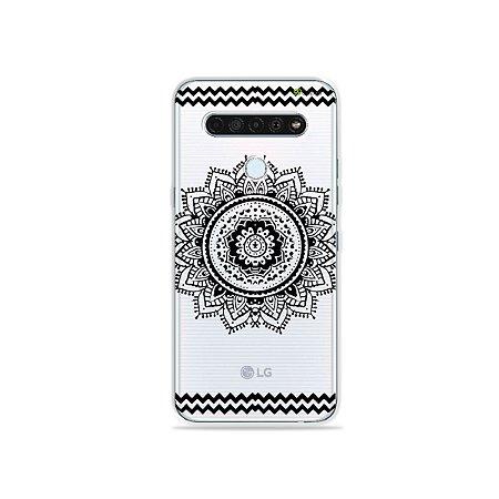 Capinha (Transparente) para LG K61 - Mandala Preta