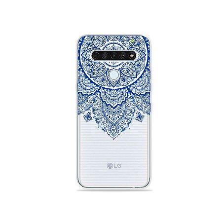 Capinha (Transparente) para LG K61 - Mandala Azul