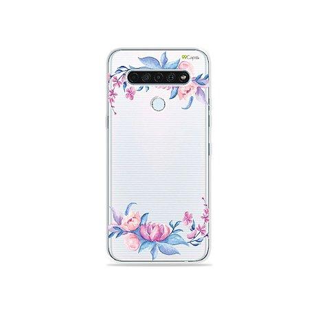 Capinha (Transparente) para LG K61 - Bromélias