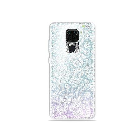Capinha (Transparente) para Xiaomi Redmi Note 9 - Rendada