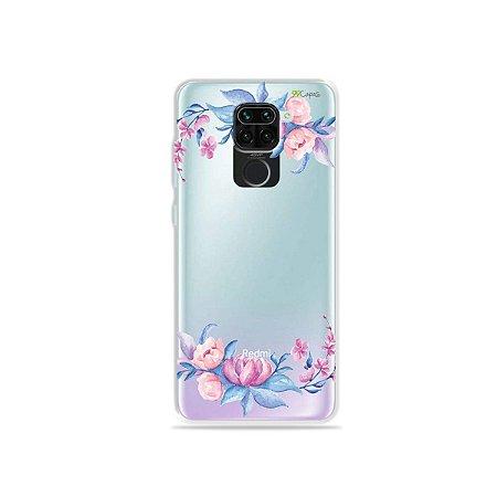 Capinha (Transparente) para Xiaomi Redmi Note 9 - Bromélias