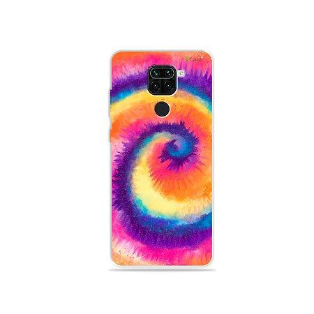Capinha para Xiaomi Redmi Note 9 - Tie Dye Roxo