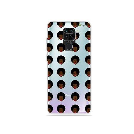 Capinha (Transparente) para Xiaomi Redmi Note 9 - Black Girl