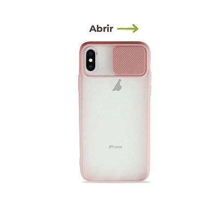 Capinha Soft Rosa com proteção de câmera para iPhone X - 99Capas