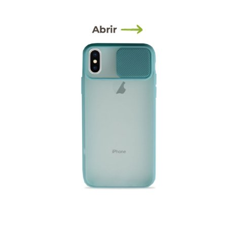 Capinha Soft Azul com proteção de câmera para iPhone X - 99Capas