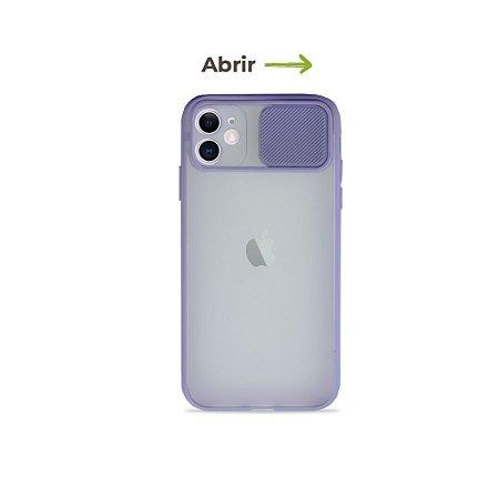 Capinha Soft Lilás com proteção de câmera para iPhone 11- 99Capas