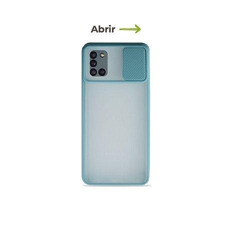 Capinha Soft Azul com proteção de câmera para Galaxy A31 - 99Capas