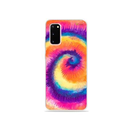 Capinha para Galaxy S20 - Tie Dye Roxo