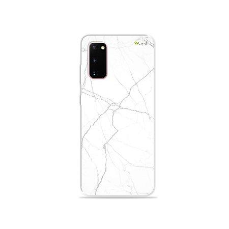 Capinha para Galaxy S20 - Marble White