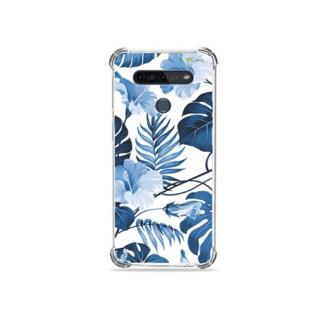 Capinha para LG K51s - Flowers in Blue