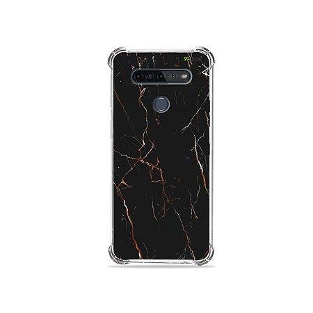 Capinha para LG K51s - Marble Black