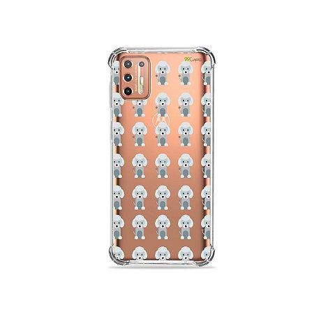 Capinha (Transparente) para Moto G9 Plus - Poodle