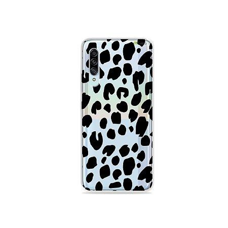 Capinha (Transparente) para Galaxy A90 - Animal Print Basic