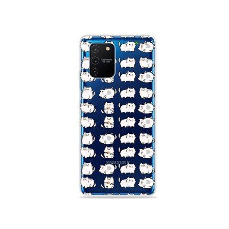 Capa (Transparente) para Galaxy S10 Lite - Lazy Cat
