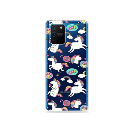 Capa (Transparente) para Galaxy S10 Lite - Unicónios Felizes
