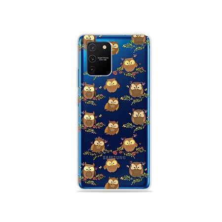Capa (Transparente) para Galaxy S10 Lite - Corujinhas
