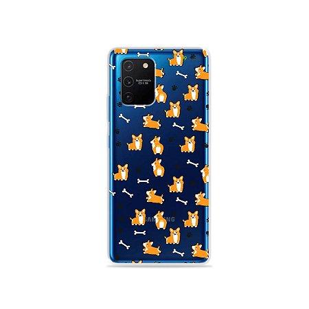 Capa (Transparente) para Galaxy S10 Lite - Cãozinho