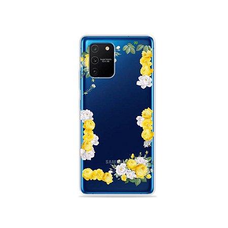 Capa (Transparente) para Galaxy S10 Lite - Yellow Roses
