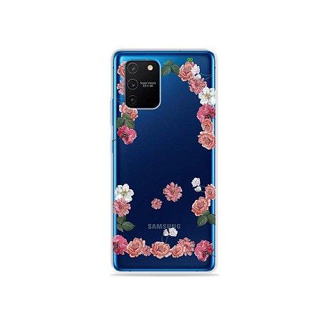 Capa (Transparente) para Galaxy S10 Lite - Pink Roses