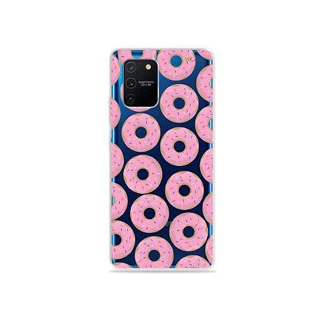 Capa (Transparente) para Galaxy S10 Lite - Donuts