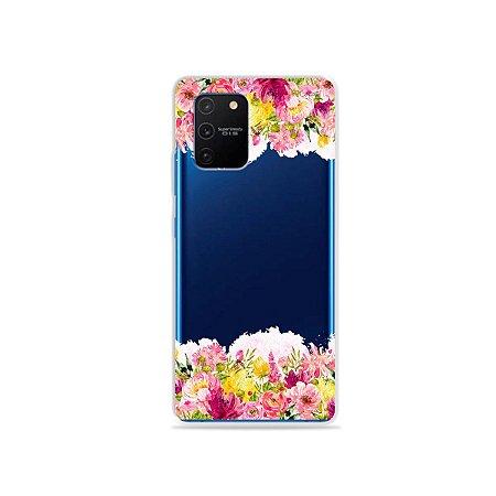 Capa (Transparente) para Galaxy S10 Lite - Botânica