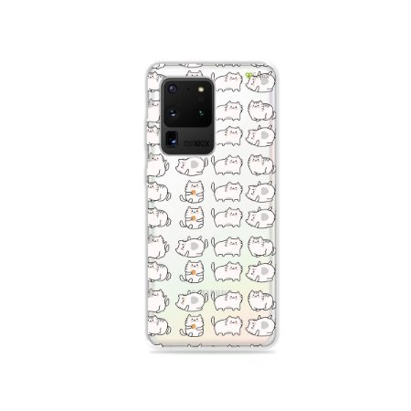 Capa (Transparente) para Galaxy S20 Ultra - Lazy Cat