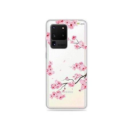 Capa (Transparente) para Galaxy S20 Ultra - Cerejeiras