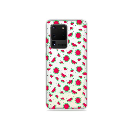 Capa (Transparente) para Galaxy S20 Ultra - Mini Melancias