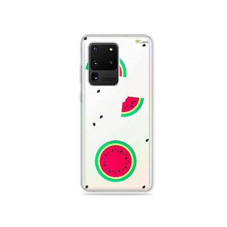 Capa (Transparente) para Galaxy S20 Ultra - Melancias