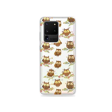 Capa (Transparente) para Galaxy S20 Ultra - Corujinhas