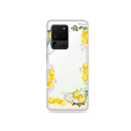 Capa (Transparente) para Galaxy S20 Ultra - Yellow Roses