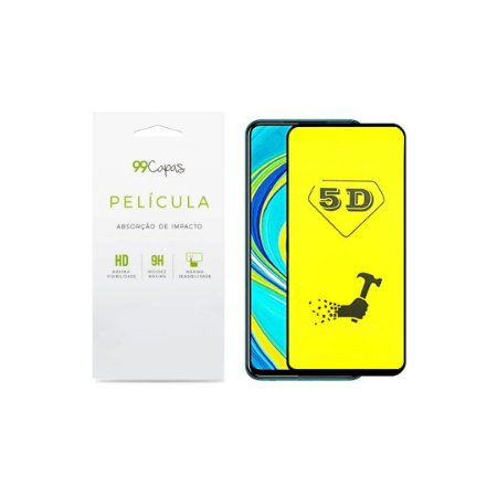Película de Gel 5D (flexível) para Redmi Note 9S - 99Capas