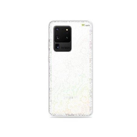 Capa (Transparente) para Galaxy S20 Ultra - Rendada
