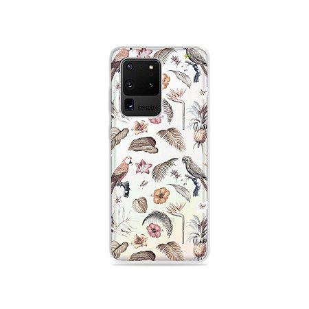 Capa (Transparente) para Galaxy S20 Ultra - Sweet Bird