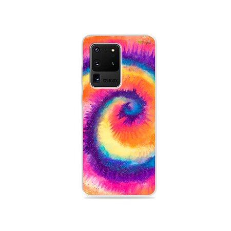 Capa para Galaxy S20 Ultra - Tie Dye Roxo