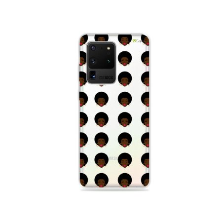 Capa (Transparente) para Galaxy S20 Ultra - Black Girl