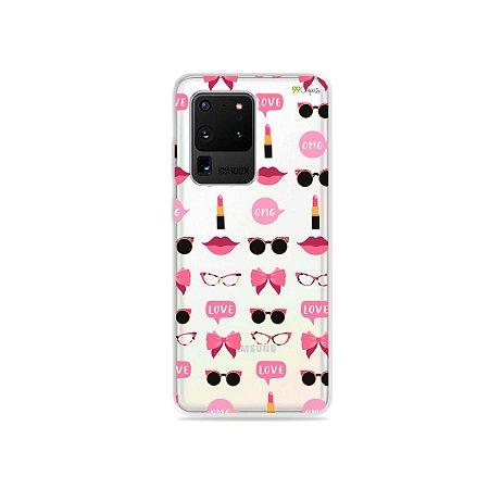 Capa (Transparente) para Galaxy S20 Ultra - Girls
