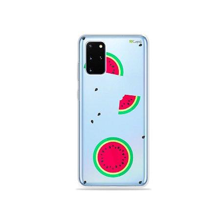 Capa (Transparente) para Galaxy S20 Plus - Melancias