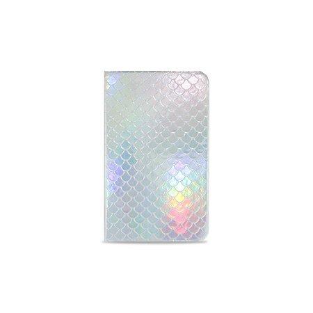 Caderneta Sereia Prata (Holográfica)
