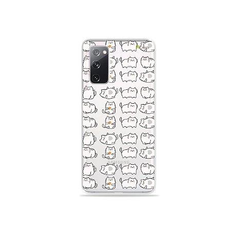 Capa (Transparente) para Galaxy S20 FE - Lazy Cat