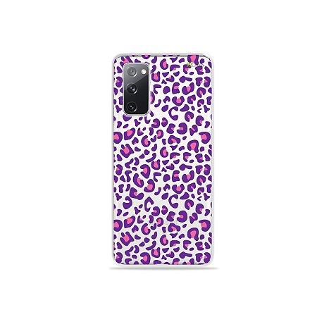 Capa (Transparente) para Galaxy S20 FE - Animal Print Purple
