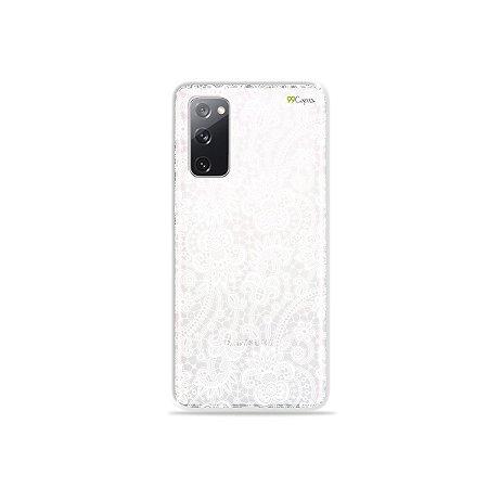 Capa (Transparente) para Galaxy S20 FE - Rendada